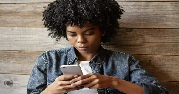 blog picture of african woman on phone