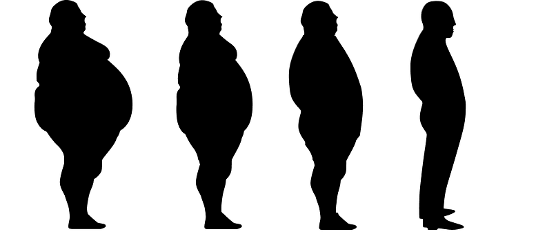 silhouette of weight loss