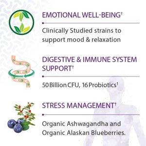 Garden of Life Probiotics Mood+ Claimed Benefits