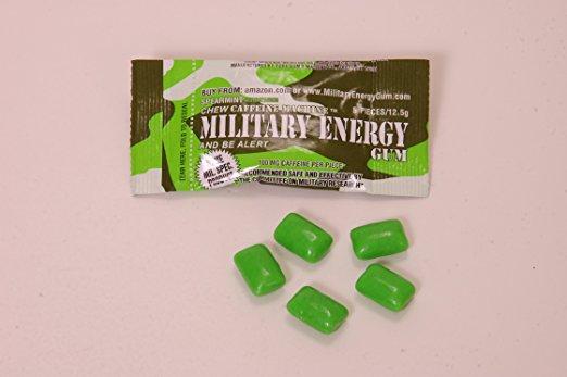 Military Energy Gum (MEG) – 100mg caffeine/pc – Dr  Alice Talks