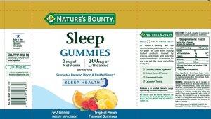 Nature's Bounty Melatonin Gummies Supplement Information