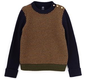 HUMAN WOMENのセーター、ボタンが可愛いね