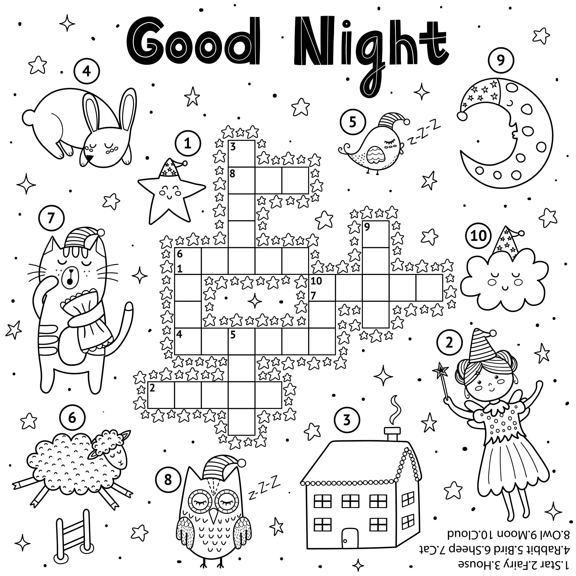 Fun Crossword Puzzles For Kids To Print