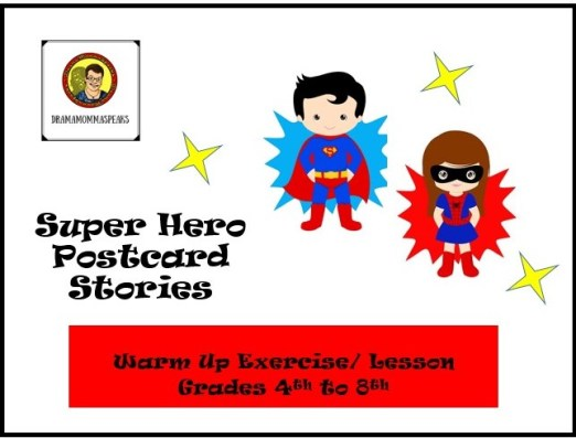 super hero postcard stories