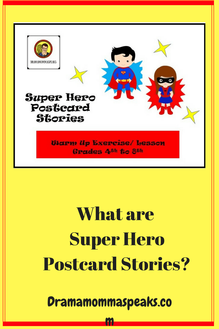 super hero post cards stories