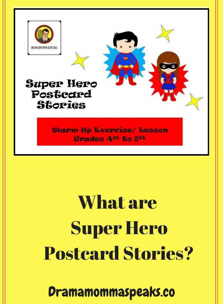 What are Super Hero Postcard Stories