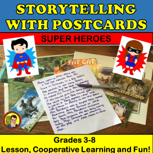 Storytelling Using Super Heroes Postcard Stories
