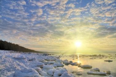 ice under bright sun