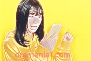 LINEマンガ(2020)CMの女優は誰?【驚いた表情が漫画になったのは 福本莉子(ふくもとりこ)】