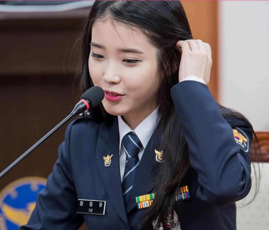 IU as a police officer