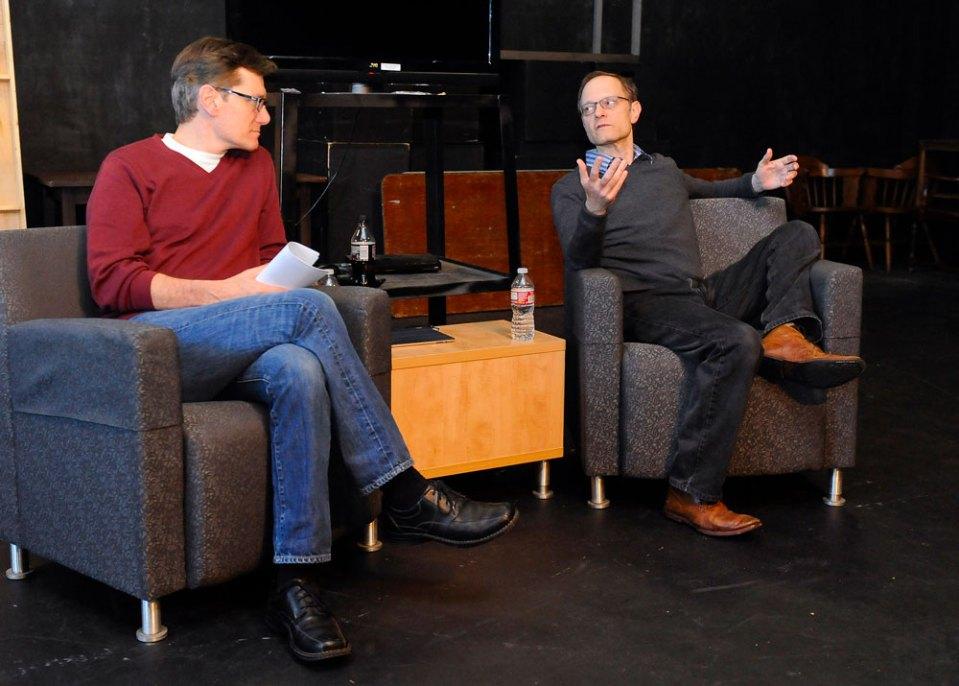 John DeMita with actor and director David Hyde Pierce