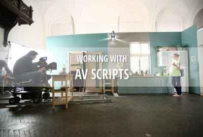 AV script for documentaries, commercials & non-fiction