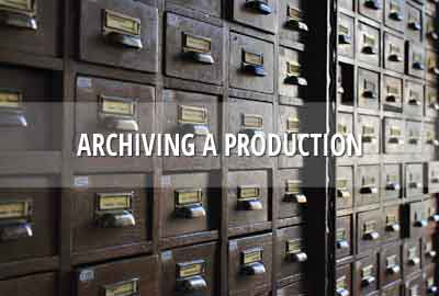 Archive a Dramatify production