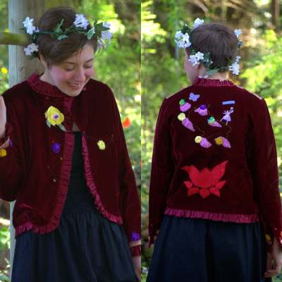 Upcycled Velvet Jacket - Fairy - Medium Size