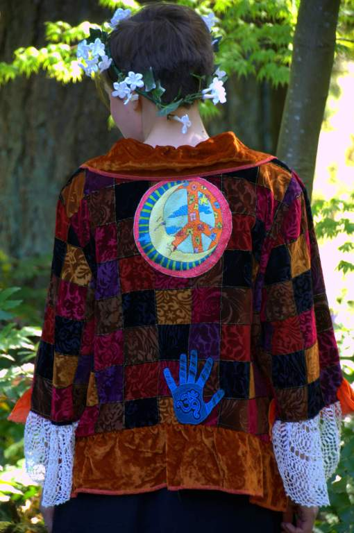 Upcycled Velvet Jacket - Gypsy Road Traveler - View from behind