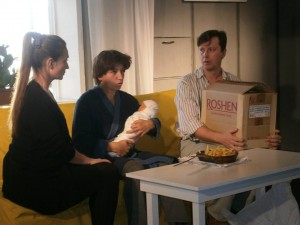 """A Scene from """"History"""" Play by Director Anton Romanov"""