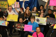 Group with signs 3