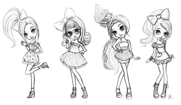 Милые картинки для срисовки девочкам 12 лет сборка