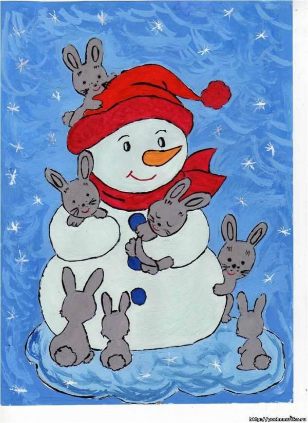 Лучшие новогодние рисунки, картинки для детского сада
