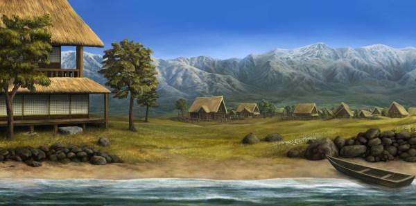 Домик в деревне - обои на рабочий стол