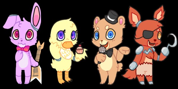 Картинки ФНАФ 2 все персонажи для срисовки