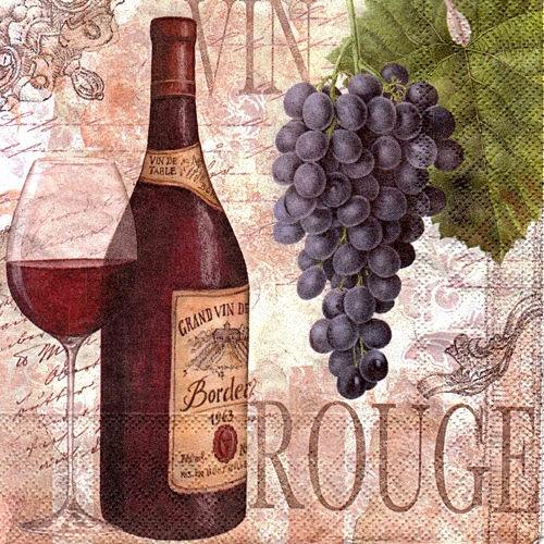 Картинки вино и виноград для декупажа