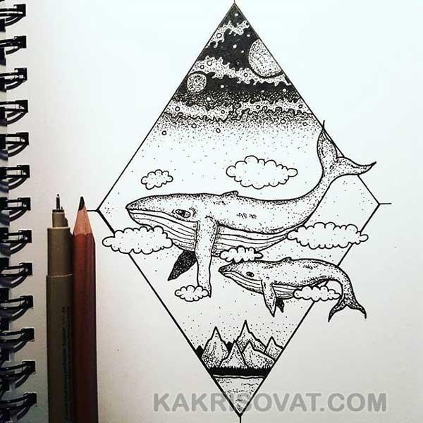 Картинки для срисовки в скетчбук - красивые изображения
