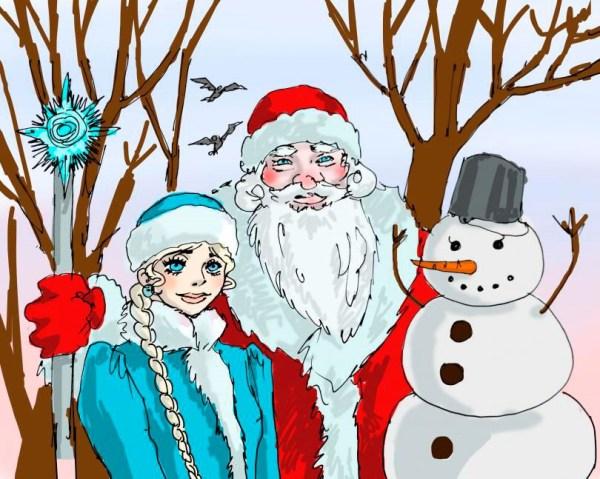 Картинки прикольные Деда Мороза подборка