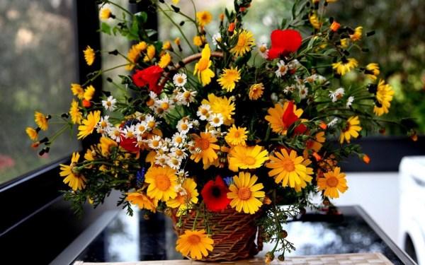 Обои для рабочего стола - цветы букеты композиции