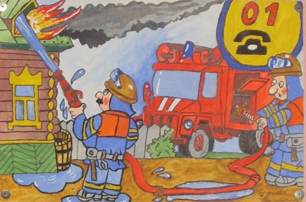 Рисунки для детей о пожаре - картинки