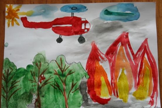 Рисунки на тему пожарной безопасности детские картинки