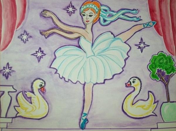 Рисунок на тему лебединое озеро