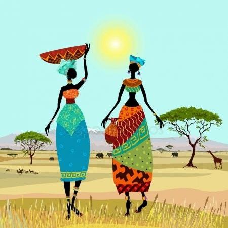 Стилизованные рисунки Африка – красивые картинки