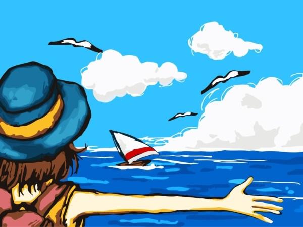 Рисунки на тему лето на море - подборка