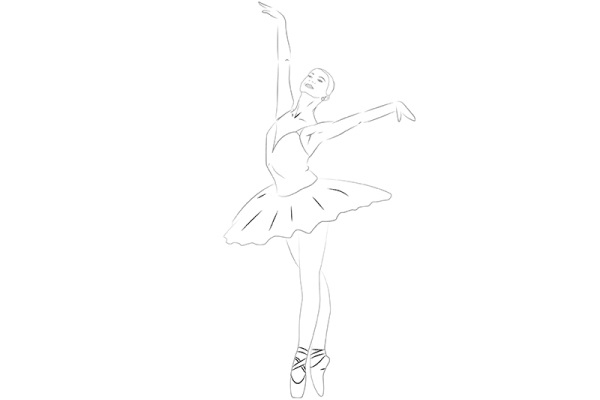 Картинки нарисованная карандашом балерина