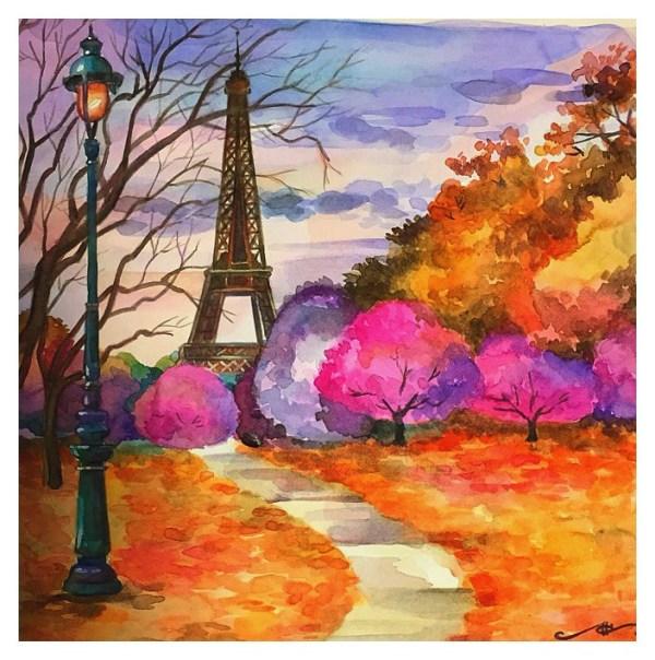 Осень акварельные рисунки - лучшие картинки