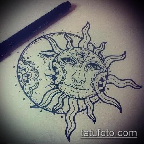 Самый красивый рисунок солнца и луны
