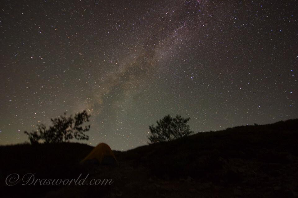 アストロレーサーで撮影した天の川