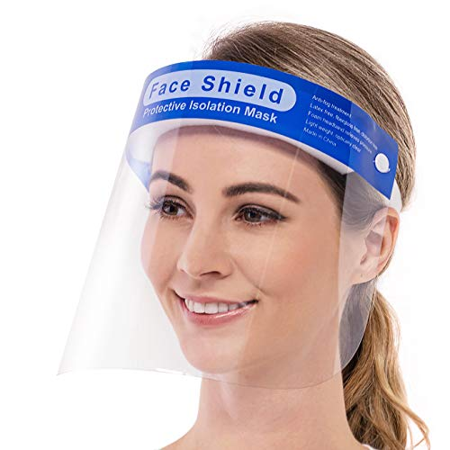 Vaciti 300 Pack Protecting Face Shields,Reusable Security Face Protect with Clear Movies, Adjustable Band and Sponge in opposition to SplashSafety full Face Protect US STOCK
