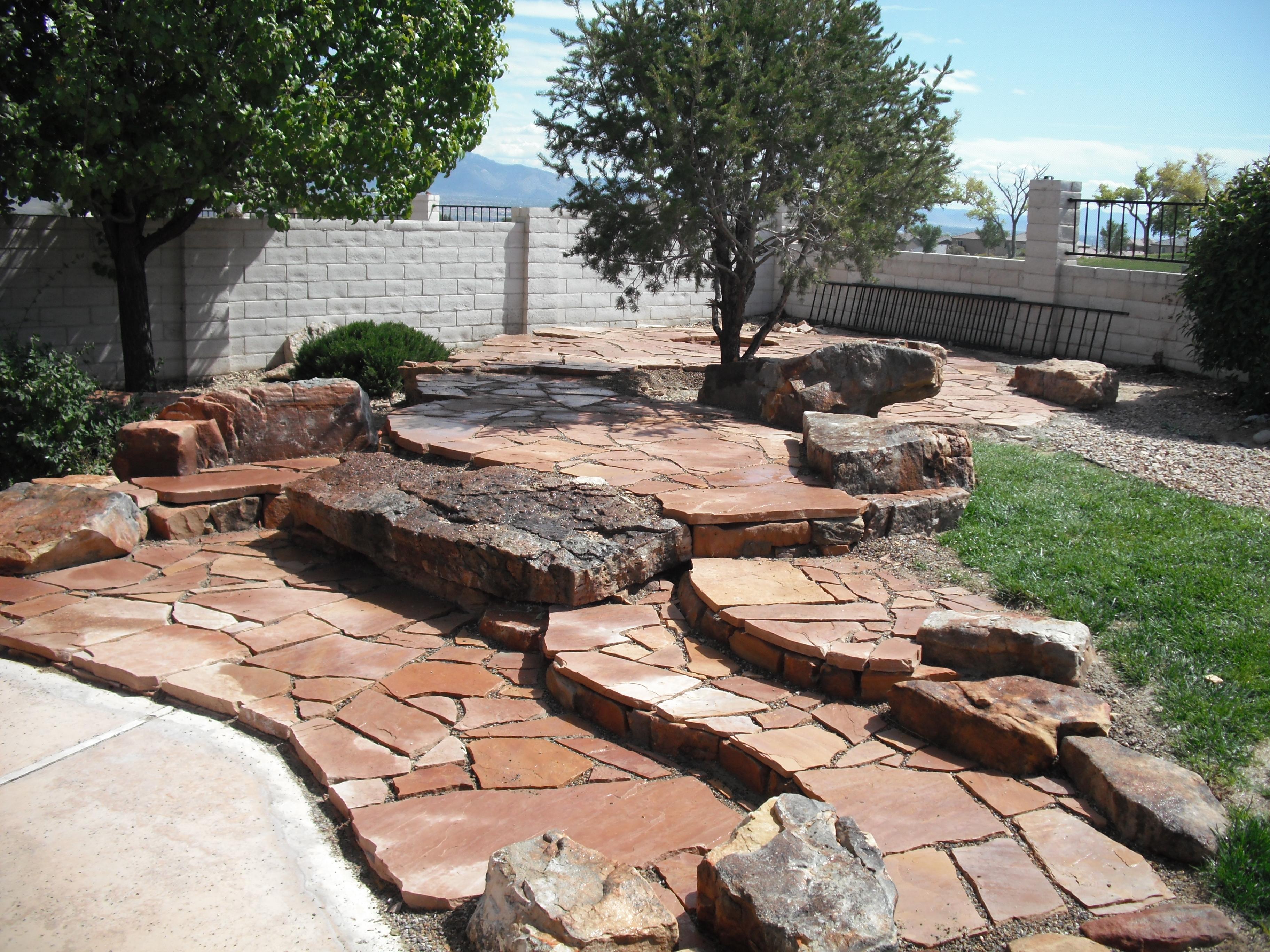 Landscaping Jobs | Draussen LLC Garden Design on Backyard Patio Steps id=17016