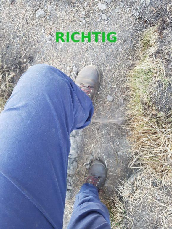 Knie richtig - beschriftet