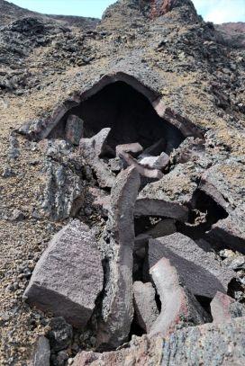 Ein eingestürzter Lavatunnel