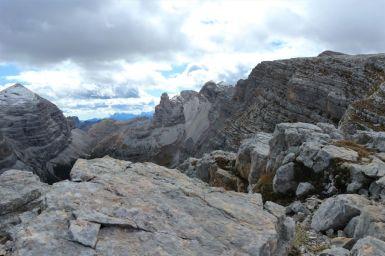 Steine in den Dolomiten