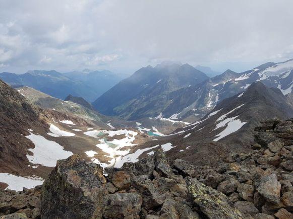 Am Gipfel des Roten Grat