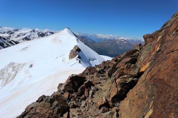 Blich von der Zufallspitze auf den Monte Cevedale