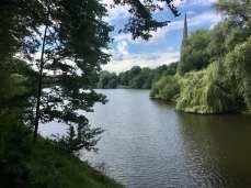 Blick auf den Kuhmühlenteich in Hamburg