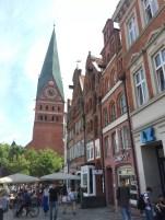 Blick auf den Turm von St. Johannis in Lüneburg
