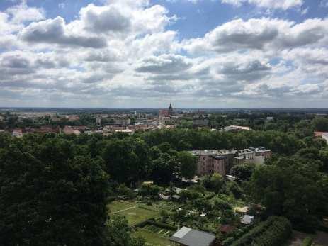 Blick über Brandenburg/Havel vom Aussichtsturm auf dem Marienberg