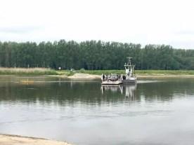 Die Gierseilfähre bei Havelberg an der Elbe