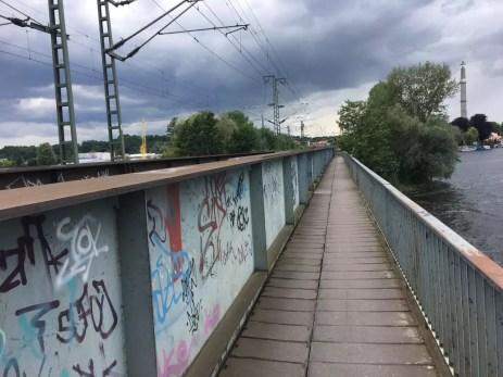 Eisenbahnbrücke vor Werder